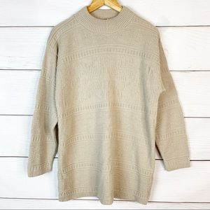 💜Vintage Mock Neck Pullover Sweater Size Small